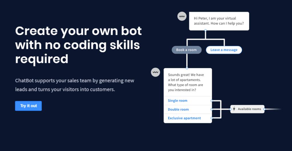 chatbot creazione bot facile e veloce